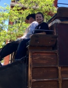 RB rides the stagecoach in Columbia CA